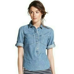 Tommy Hilfiger Anchor Print Chambray Popover XL